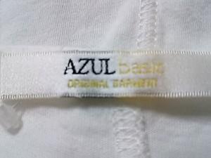 アズールバイマウジー AZUL by moussy 半袖カットソー サイズS レディース 白 ロング丈【中古】