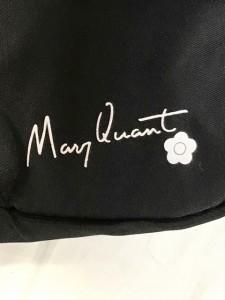 マリークワント MARY QUANT ハンドバッグ 黒×レッド×ダークネイビー ナイロン×合皮【中古】