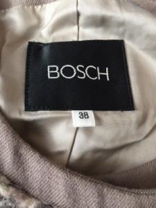 ボッシュ BOSCH ジャケット レディース 美品 ライトブラウン×アイボリー ニット【中古】