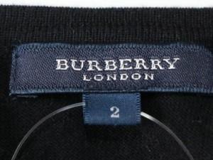 バーバリーロンドン Burberry LONDON ノースリーブセーター サイズ2 M レディース 黒【中古】