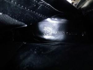 アンクライン ANNE KLEIN ロングブーツ 5M レディース 黒 レザー×化学繊維【中古】
