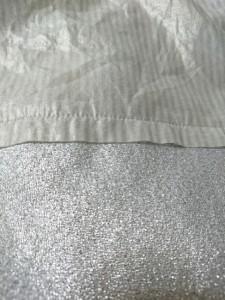 マカフィ MACPHEE ノースリーブカットソー サイズ38 M レディース 美品 シルバー ストライプ/ラメ【中古】