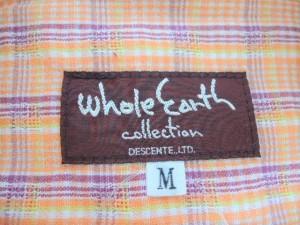 ホールアース Whole Earth 半袖シャツブラウス サイズM レディース 美品 オレンジ×マルチ【中古】