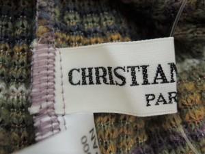 クリスチャンオジャール CHRISTIAN AUJARD 長袖セーター サイズ9T レディース カーキ×マルチ ボーダー【中古】