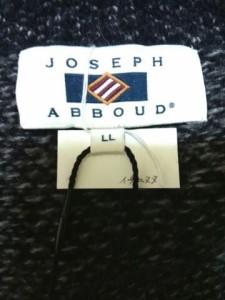 ジョセフアブード JOSEPHABBOUD コート サイズLL XL レディース 黒×グレー ニット/冬物【中古】