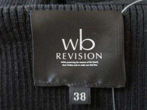 ダブリュービー wb スカートセットアップ サイズ38 M レディース 美品 黒×アイボリー REVISION【中古】