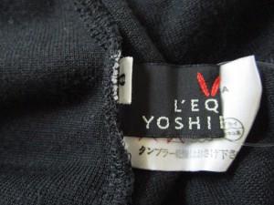 レキップ ヨシエイナバ L'EQUIPE YOSHIE INABA スカートセットアップ サイズ9 M レディース 黒 ベロア【中古】