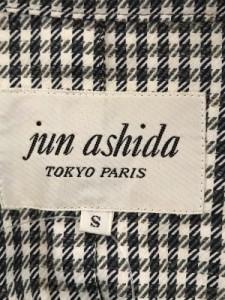 ジュンアシダ JUN ASHIDA コート サイズS レディース アイボリー×ダークネイビー×マルチ 肩パッド/チェック柄/春・秋物【中古】