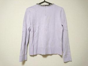 ジャスグリッティー JUSGLITTY 長袖セーター サイズ2 M レディース 美品 ライトパープル ビジュー【中古】