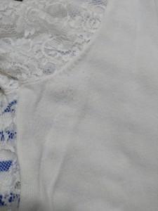 アプワイザーリッシェ Apuweiser-riche 半袖カットソー サイズ2 M レディース 美品 白×ブルー レース/ボーダー/ビジュー【中古】