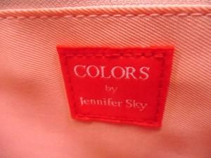カラーズバイジェニファースカイ COLORS by Jennifer sky ハンドバッグ アイボリー×黒 合皮【中古】