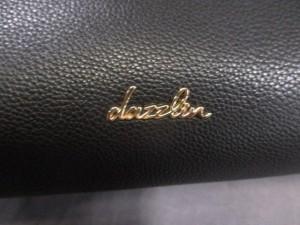 ダズリン DAZZLIN ハンドバッグ 黒×グレー リボン 合皮【中古】