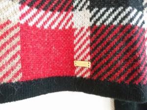 ブルーレーベルクレストブリッジ BLUE LABEL CRESTBRIDGE スカートセットアップ サイズ38 M レディース 黒×レッド×マルチ【中古】