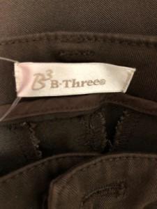 ビースリー B3 B-THREE パンツ サイズ36 S レディース ダークブラウン【中古】