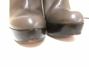 マルニ MARNI ブーツ 36 レディース ブラウン×パープル レザー×漆【中古】