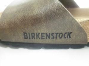 ビルケンシュトック BIRKEN STOCK サンダル 38 レディース 美品 ダークブラウン レザー【中古】
