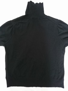 バーバリーロンドン Burberry LONDON 半袖カットソー サイズ5 XS レディース 美品 黒 タートルネック【中古】