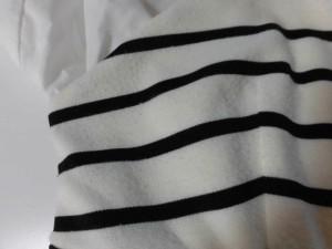 リリディア Lilidia ワンピース サイズ1 S レディース 白×黒 重ね着風/ボーダー【中古】