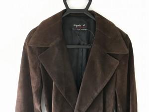アニエスベー agnes b コート サイズ2 M レディース ダークブラウン レザー/SPECIAL【中古】