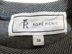 ロペピクニック RopePicnic ワンピース サイズ38 M レディース グレー×アイボリー レース【中古】