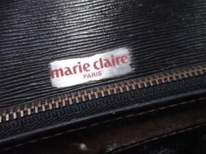 マリクレール marie claire ショルダーバッグ 黒 レザー【中古】