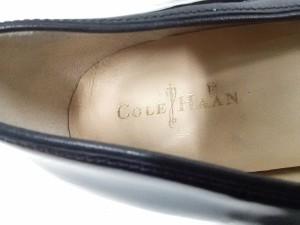 コールハーン COLE HAAN パンプス 8 B レディース 黒 ウェッジソール エナメル(レザー)【中古】