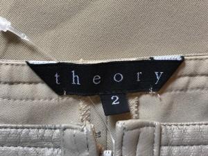 セオリー theory パンツ サイズ2 S レディース ベージュ【中古】