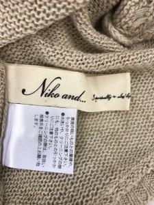 ニコアンド niko and... カーディガン レディース ベージュ 半袖【中古】