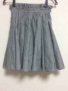 ココディール COCO DEAL スカート レディース 美品 グレー×白 ストライプ【中古】