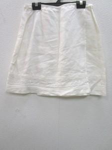 アルマーニエクスチェンジ ARMANIEX 巻きスカート サイズ4 XL レディース 美品 アイボリー【中古】