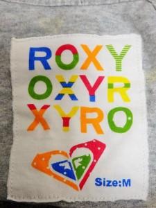 ロキシー Roxy パーカー サイズM レディース グレー×マルチ ジップアップ/薄手【中古】