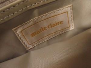 マリクレール marie claire ショルダーバッグ レディース ベージュ×ライトグレー 刺繍 ナイロン【中古】
