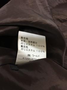 リフレクト ReFLEcT ワンピース レディース ダークブラウン×白 ドット柄【中古】