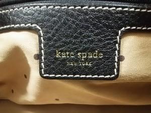 ケイトスペード Kate spade ショルダーバッグ 黒 レザー【中古】