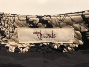 マダムジョコンダ MADAM JOCONDE ジャケット サイズJ 9 レディース 美品 黒×アイボリー×ゴールド 肩パッド【中古】