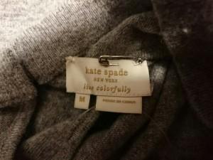 ケイトスペード Kate spade 七分袖セーター サイズM レディース 美品 グレー ビジュー【中古】