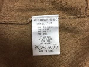 リヴドロワ RIVE DROITE 長袖セーター サイズ38 M レディース ブラウン×アイボリー ラメ【中古】