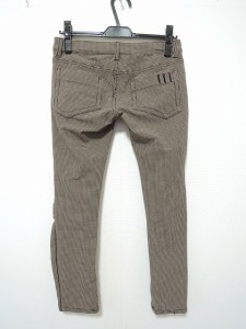 ダブルスタンダードクロージング パンツ サイズ38 M レディース ライトブラウン×ダークブラウン 千鳥格子【中古】