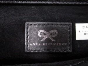 アニヤハインドマーチ Anya Hindmarch クラッチバッグ ミニカーカー 黒 グリッター/チェーンストラップ サテン【中古】