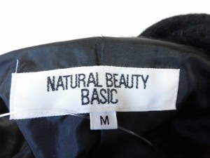 ナチュラルビューティー ベーシック NATURAL BEAUTY BASIC コート サイズM レディース 黒【中古】