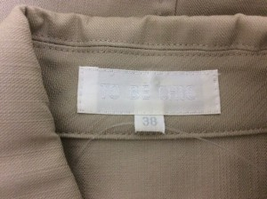 トゥービーシック TO BE CHIC ジャケット サイズ38 M レディース ベージュ【中古】
