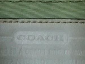 コーチ COACH トートバッグ ハンプトンズミディアムシグネチャートート 11557 カーキ×白 ジャガード×レザー【中古】