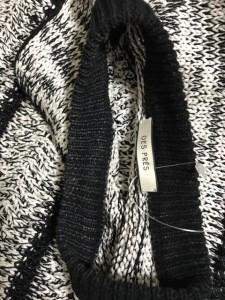 デプレ DES PRES ノースリーブセーター サイズS レディース 美品 白×黒【中古】
