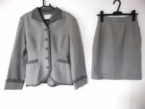 コーガマリコ MARIKO KOHGA スカートスーツ レディース ライトグレー×グレー 肩パッド【中古】