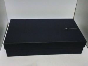 ヨンドシー 4℃ 長財布 ピンク×マルチ ラウンドファスナー レザー【中古】