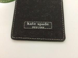 ケイトスペード Kate spade パスケース 黒×グリーン キャンバス×レザー【中古】