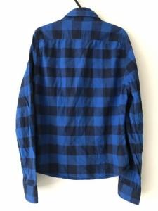 アバクロンビーアンドフィッチ Abercrombie&Fitch 長袖シャツ サイズS メンズ ブルー×黒 チェック柄【中古】