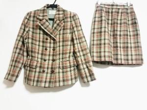 コーガマリコ MARIKO KOHGA スカートスーツ レディース ライトグリーン×マルチ チェック柄【中古】