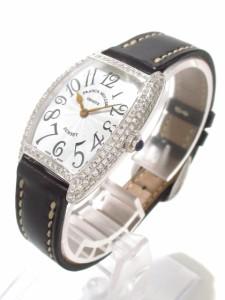 フランクミュラー FRANCK MULLER 腕時計 トノーカーベックスサンセット 1752QZD レディース シルバー【中古】
