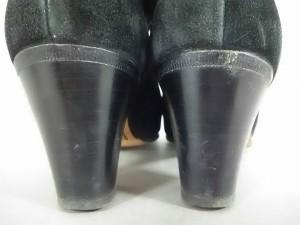 タニノクリスチー TANINO CRISCI ショートブーツ 35 1/2 レディース 黒 アウトソール張替済 スエード【中古】